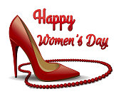Happy Womens Day. 8 March card