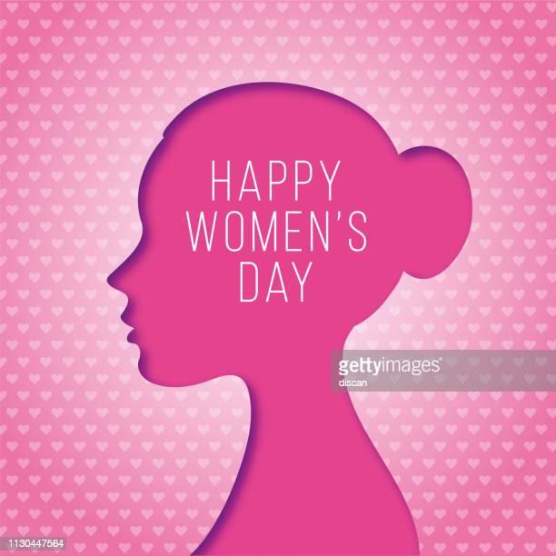 ilustraciones, imágenes clip art, dibujos animados e iconos de stock de tarjeta de felicitación del día de la mujer feliz - feliz dia de la mujer