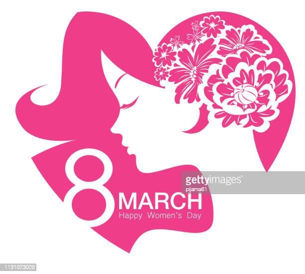 ilustraciones, imágenes clip art, dibujos animados e iconos de stock de día de la mujer feliz 8 de marzo - feliz dia de la mujer