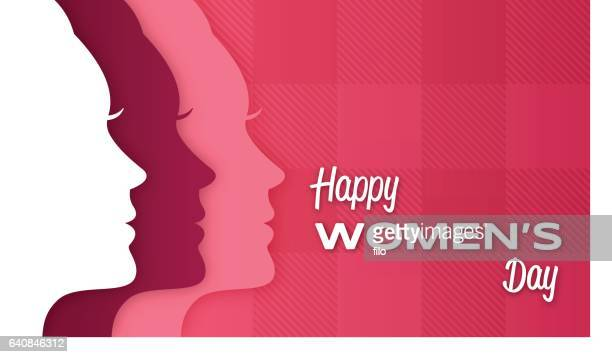 happy women's day - only women stock illustrations, clip art, cartoons, & icons