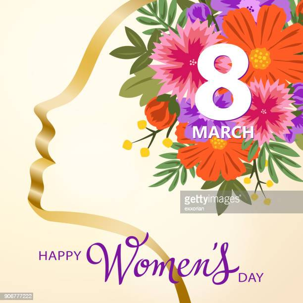 stockillustraties, clipart, cartoons en iconen met happy women's day - internationale vrouwendag
