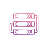 hard disk connectionicon in Nolan style. One of web collection icon can be used for UI, UX