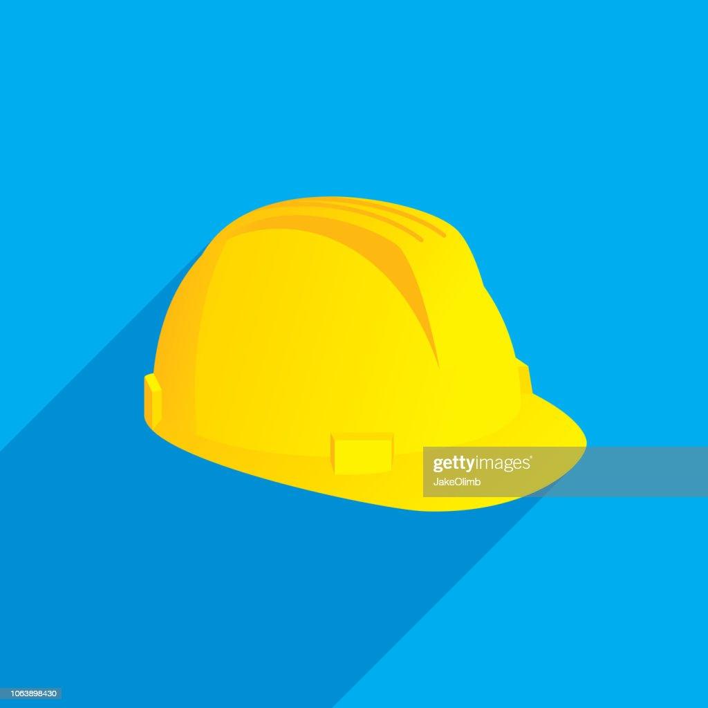 Hard Hat Icon Flat : Stock Illustration