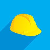 Hard Hat Icon Flat
