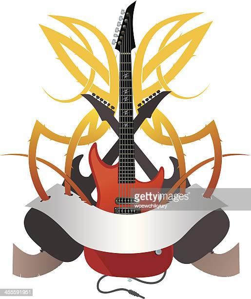 hard rock - modern rock stock illustrations