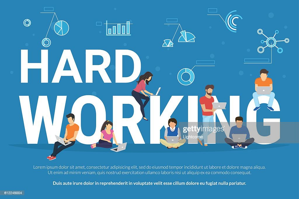 Hard working concept illustration