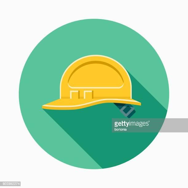 hardhat flat design home improvement icon - safety equipment stock illustrations, clip art, cartoons, & icons