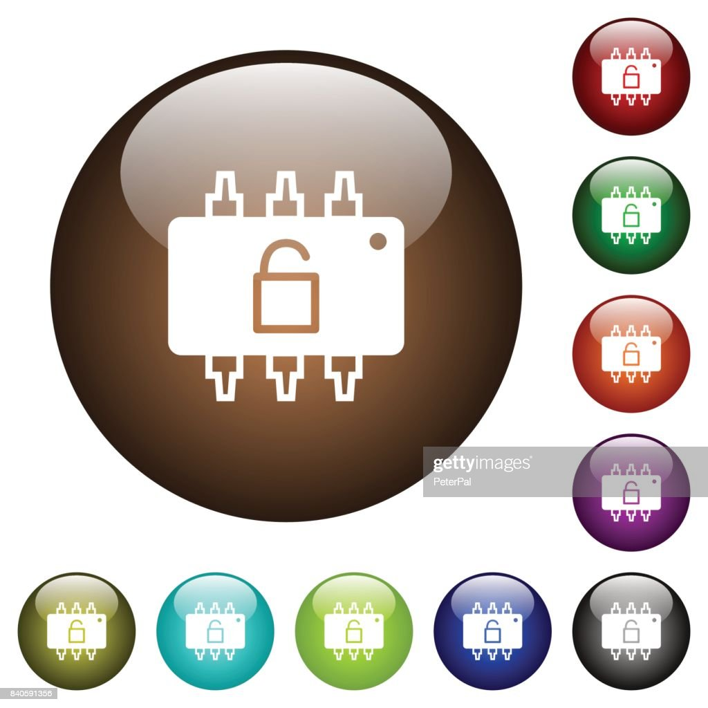 Hardware unlocked color glass buttons