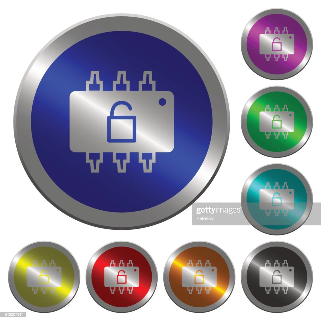 Hardware unlocked luminous coin-like round color buttons