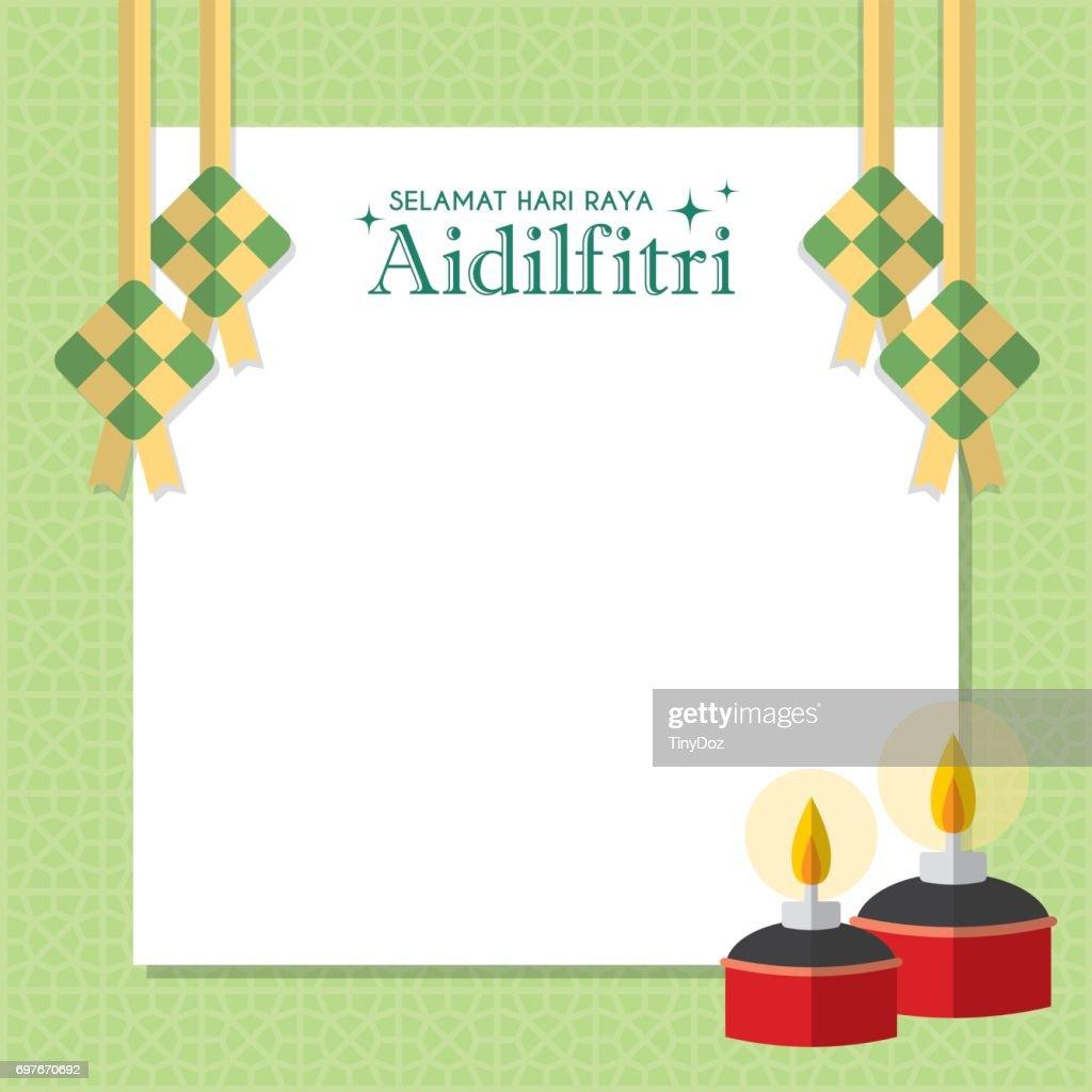 Hari Raya notepaper - pelita