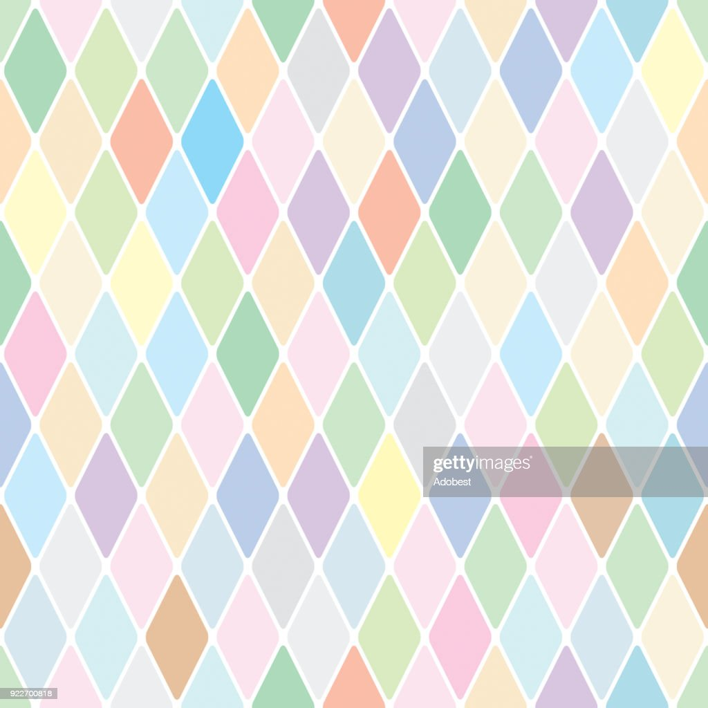 Harlequin pastelle diamond seamless pattern background
