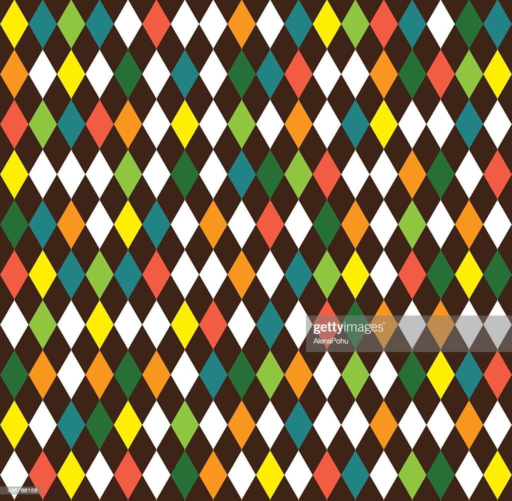 harlequin seamless background with rhombus