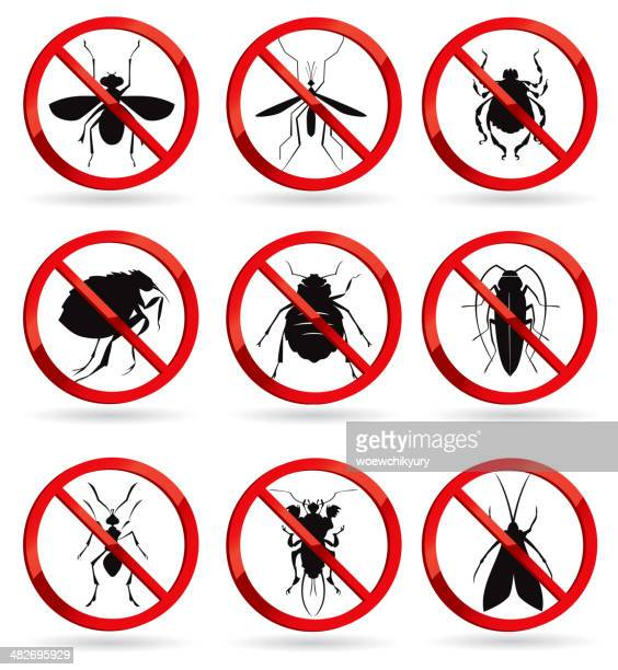 harmful insects - pests stock illustrations