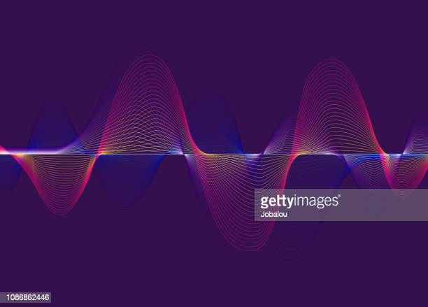 harmonic spectrum sound waves - vitality stock illustrations