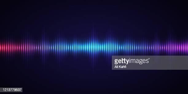harmonic spectrum sound waves - radio stock illustrations