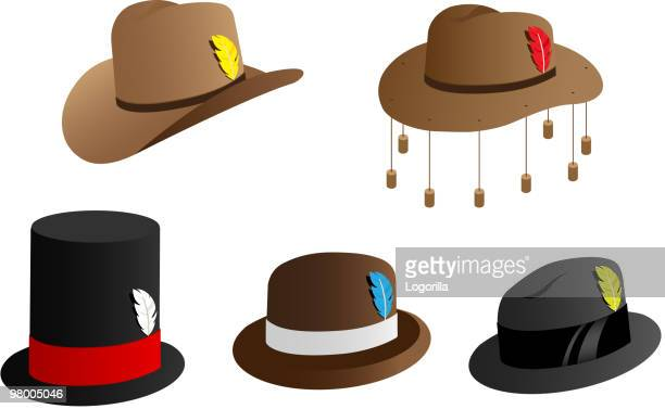 hat icons - hat stock illustrations