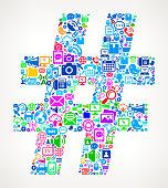 Hashtag Modern Technology royalty free vector art Pattern