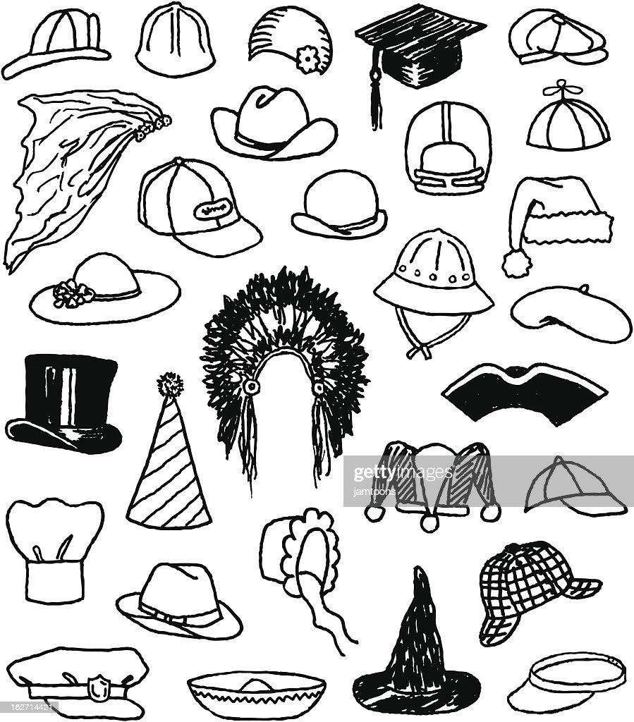 Hat Doodles : Stock Illustration