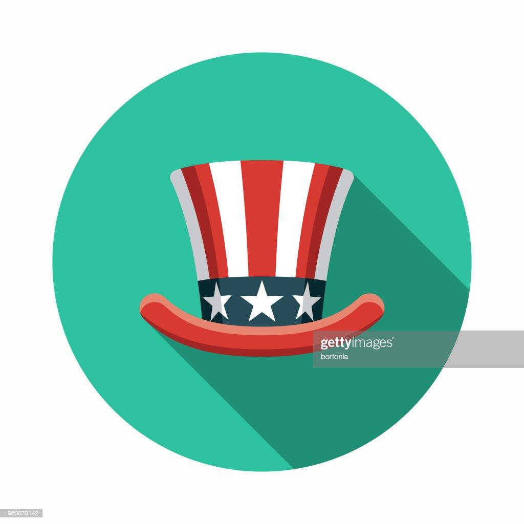 Hut flach Wahlen Designikone mit Seite Schatten : Stock-Illustration