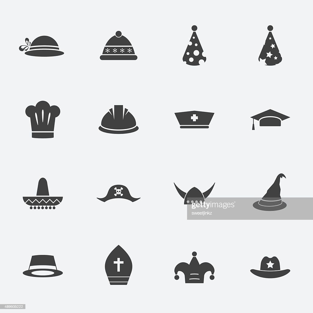 hat icon set.vectorillustration.