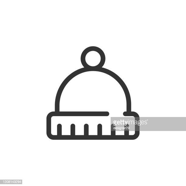 hat icon vector design. - woolly hat stock illustrations