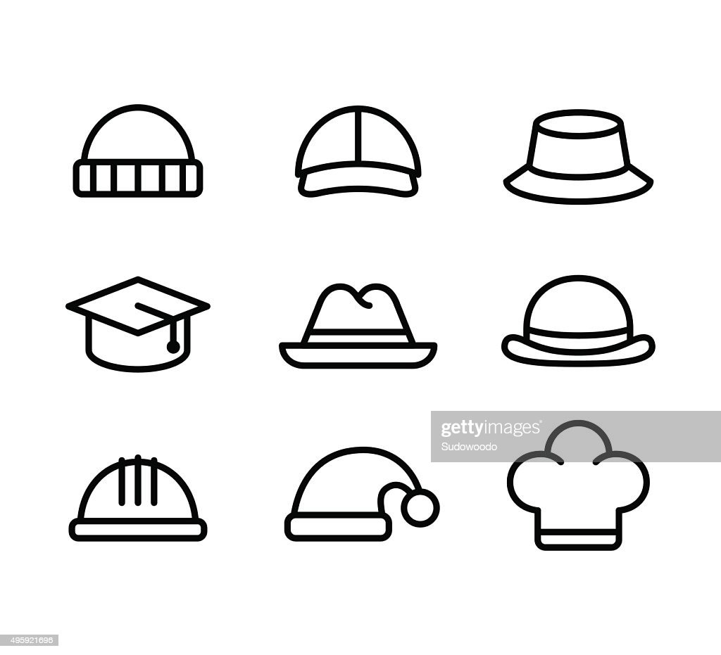 Hat line icons