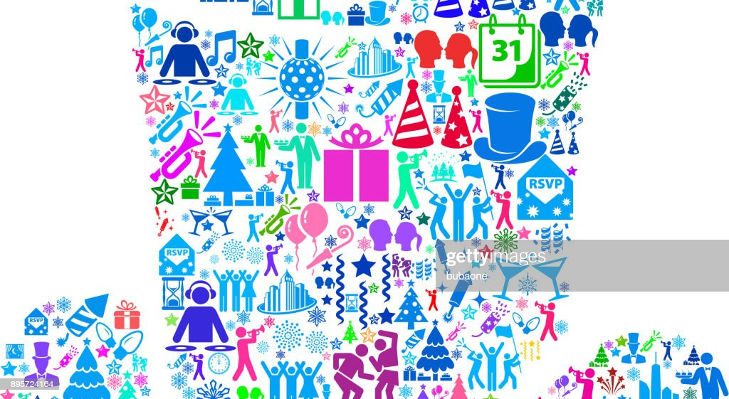 hat new year celebration party vector art