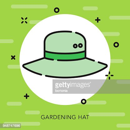 Hat Open Outline Gardening Icon Vector Art | Getty Images