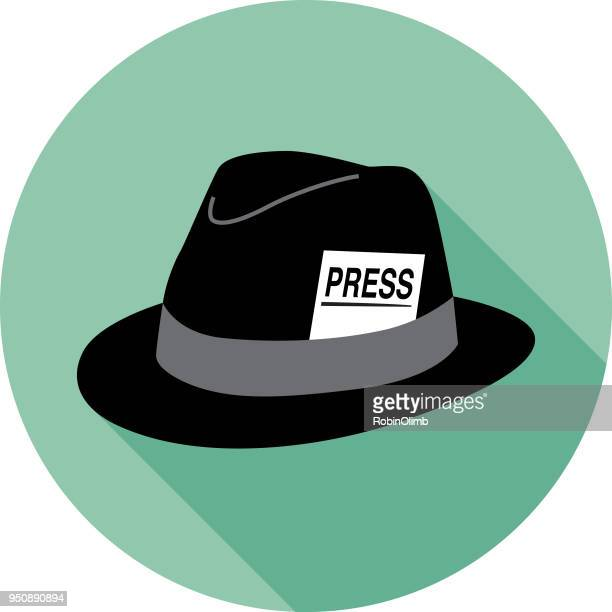 hat press card icon - hat stock illustrations