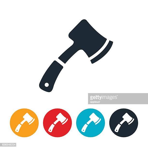 hatchet icon - hatchet stock illustrations, clip art, cartoons, & icons