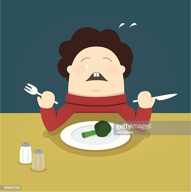 i hate vegetables! - broccoli stock illustrations, clip art, cartoons, & icons