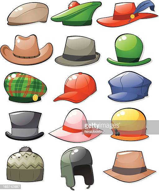 bucket hat stock illustrations and cartoons | getty images