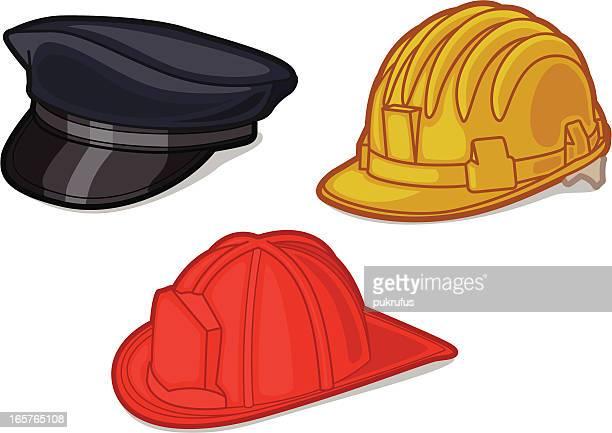 ilustrações de stock, clip art, desenhos animados e ícones de chapéus/bonés - corpo de bombeiros