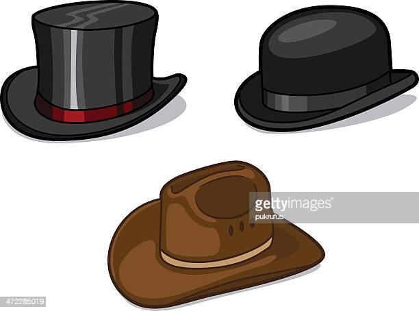 hats - cowboy hat stock illustrations, clip art, cartoons, & icons