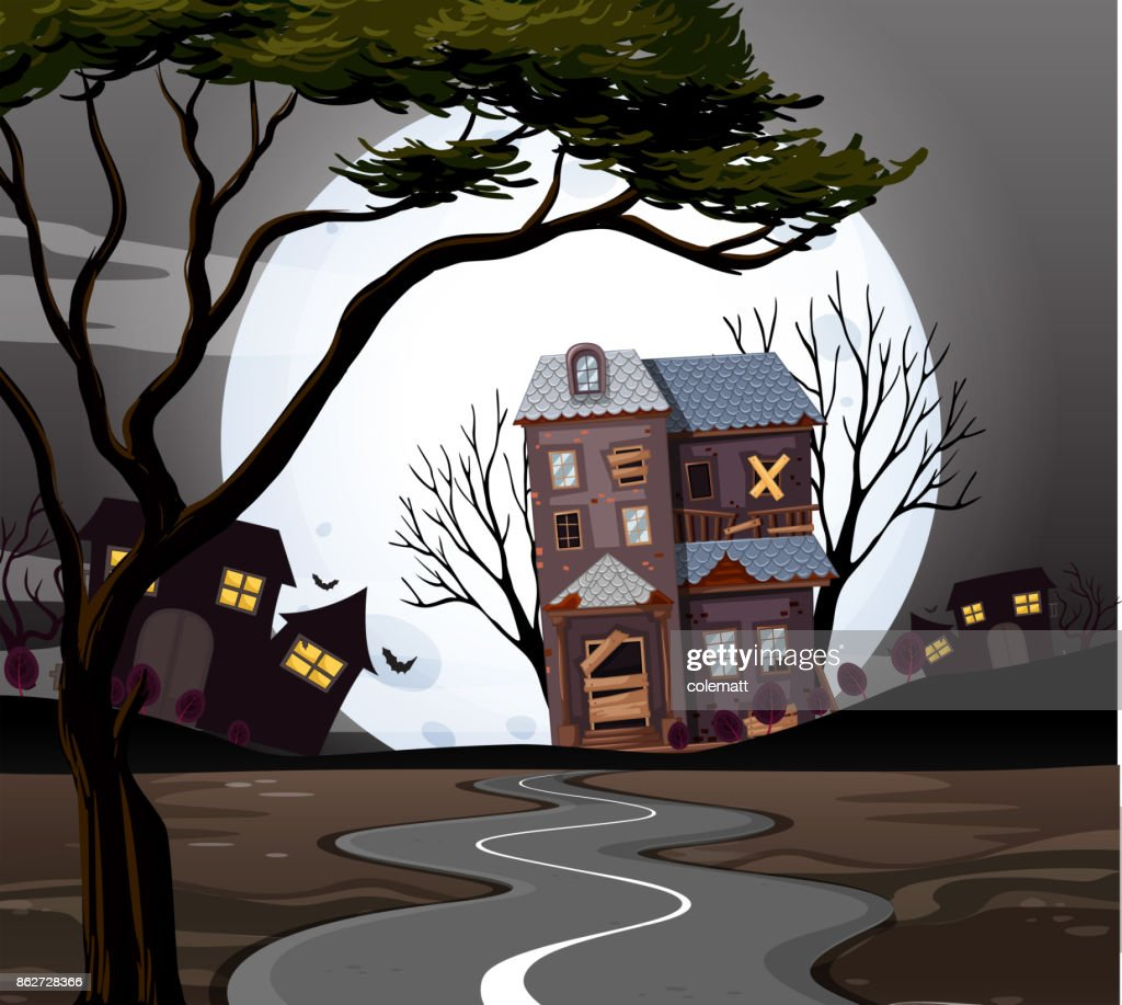 Haunted house at the end of the road