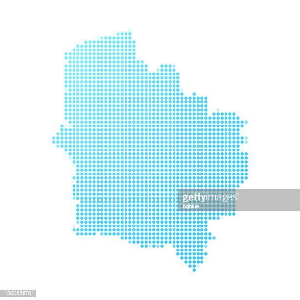 白い背景に青い点でオー・ド・フランスの地図 - オードフランス地域圏点のイラスト素材/クリップアート素材/マンガ素材/アイコン素材