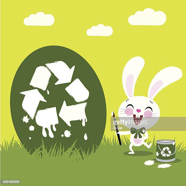 have a green easter - dirty easter stock illustrations