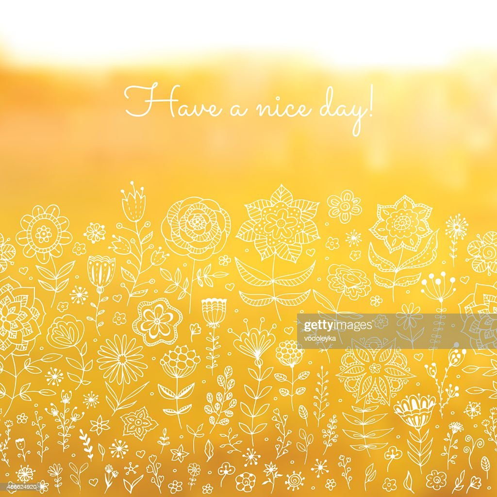 Have a nice day background.