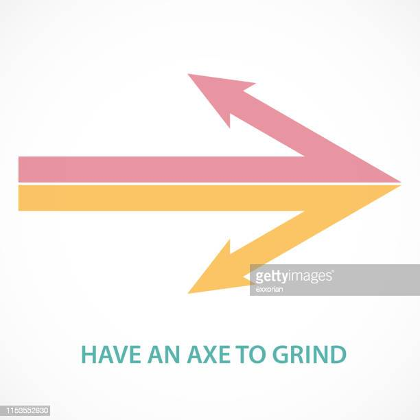 have an axe to grind - conversion sport stock illustrations