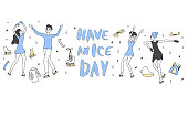 Have an Ice day quote. Vector illustration.