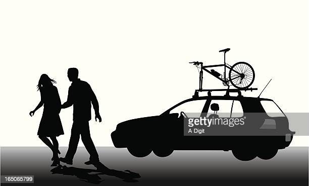 Have Bike Will Travel Vector Silhouette