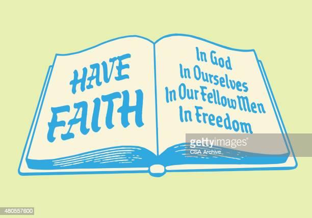 have faith open book - hebrew script stock illustrations, clip art, cartoons, & icons