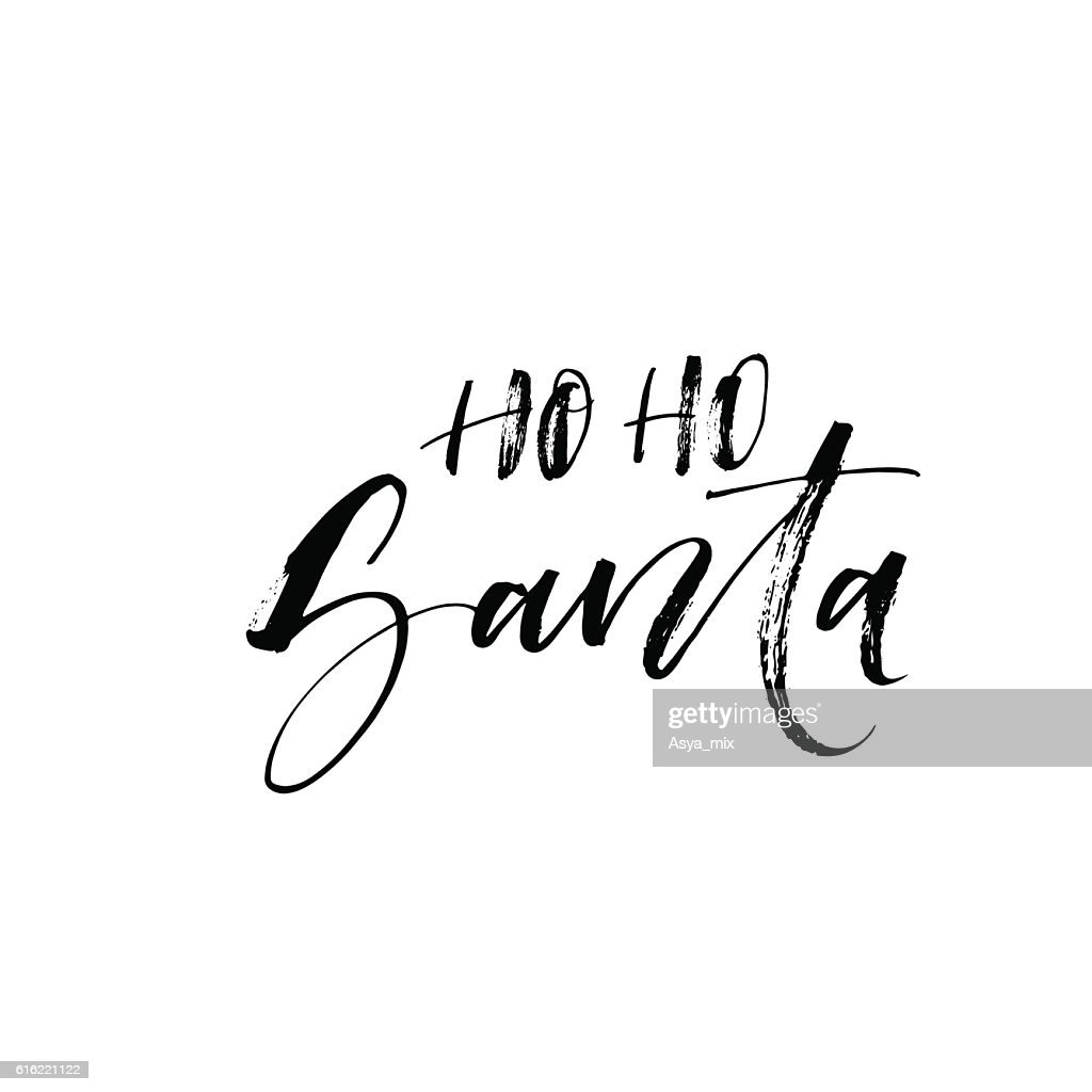 Ho ho Santa card. : Vector Art
