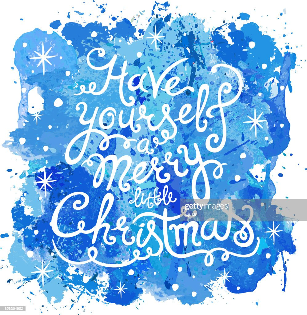 Have Yourself A Merry Little Christmas Holiday Card Hand Written ...