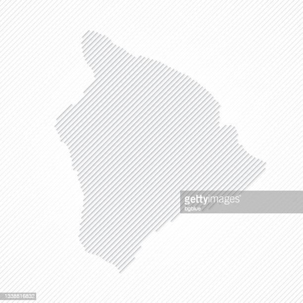hawaii inselkarte mit linien auf weißem hintergrund gestaltet - hawaii inselgruppe stock-grafiken, -clipart, -cartoons und -symbole