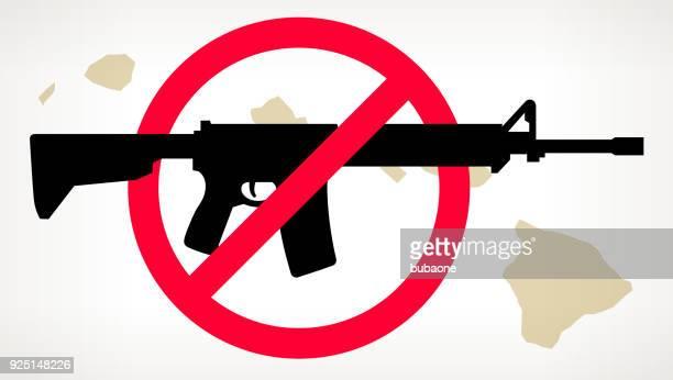 Hawaii-No Gun Gewalt Vektor Poster