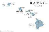 Hawaii political map