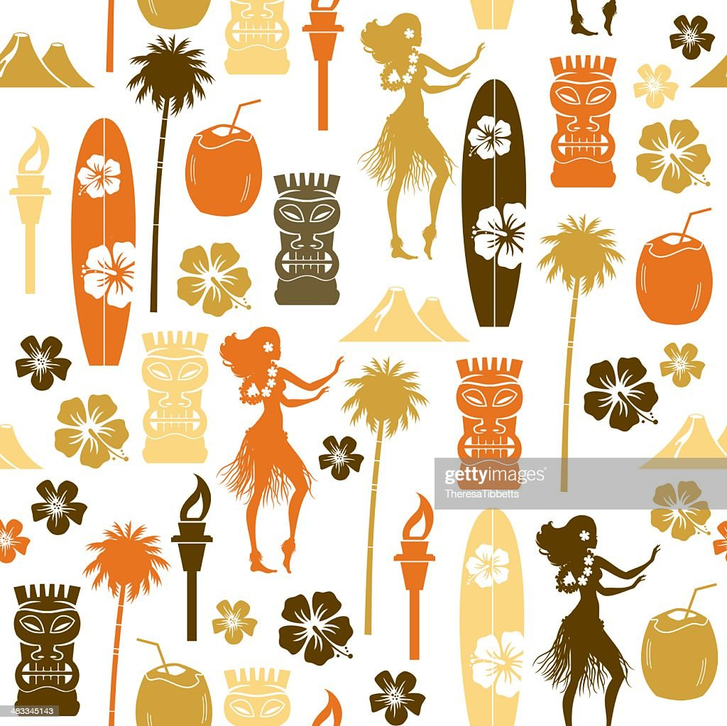 Hawaii Repeat Pattern : stock illustration