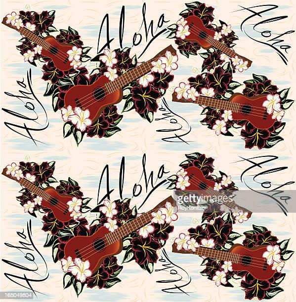 Hawaiian aloha seamless pattern