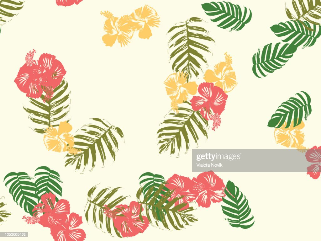 Hawaiian exotic cover template.